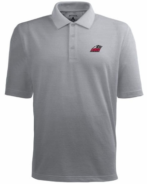 New Mexico Mens Pique Xtra Lite Polo Shirt (Color: Gray)