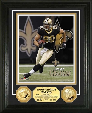 New Orlean Saints Jimmy Graham Gold Coin Photomint