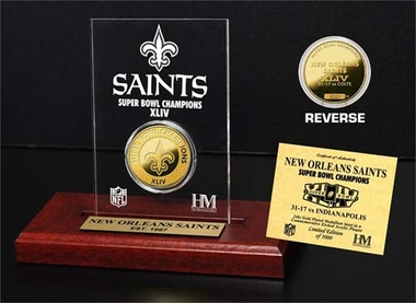 New Orleans Saints New Orlean Saints SB Champs Etched Acrylic
