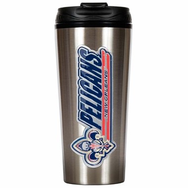 New Orleans Pelicans 16 oz. Thermo Travel Tumbler