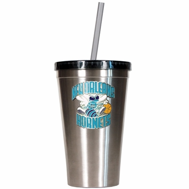 New Orleans Hornets 16oz Stainless Steel Insulated Tumbler with Straw