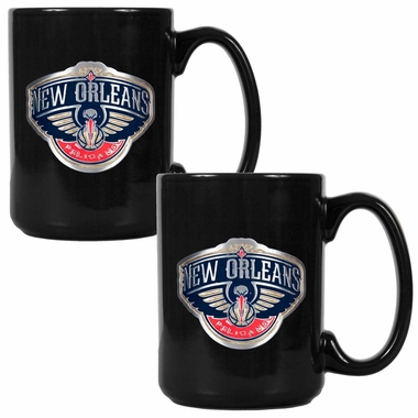 New Orleans Pelicans 2 Piece Coffee Mug Set