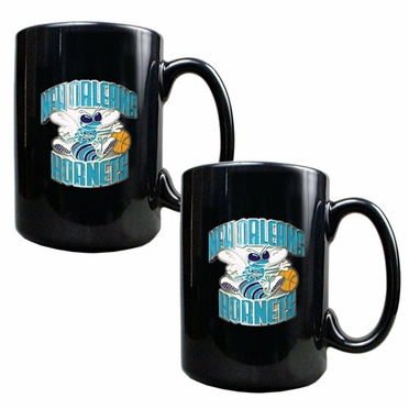 New Orleans Hornets 2 Piece Coffee Mug Set