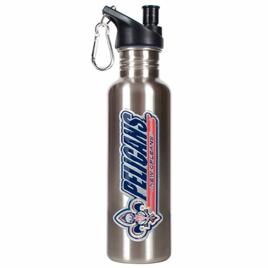 New Orleans Pelicans 26oz Stainless Steel Water Bottle (Silver)