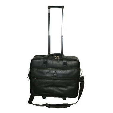 New Orleans Saints Debossed Black Leather Terminal Bag
