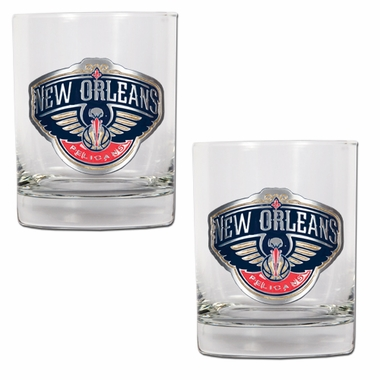 New Orleans Pelicans Double Rocks Set