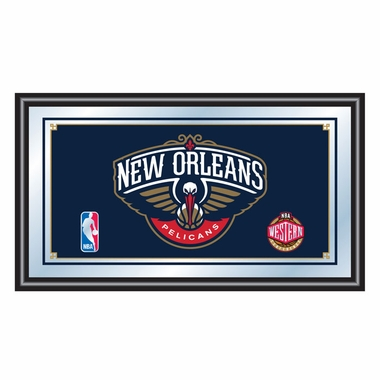 New Orleans Pellicans Framed Logo Bar Mirror