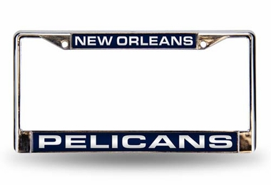 New Orleans Pelicans Laser Etched Chrome License Plate Frame