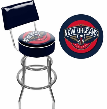 New Orleans Pelicans Padded Bar Stool with Back