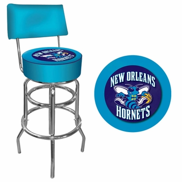 New Orleans Hornets Padded Bar Stool with Back