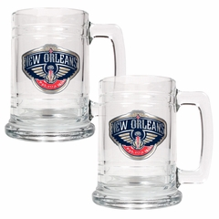 New Orleans Pelicans Set of 2 15 oz. Tankards