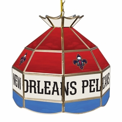 New Orleans Pellicans 16 Inch Diameter Stained Glass Pub Light