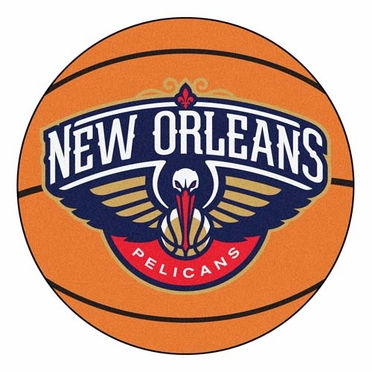 New Orleans Pelicans Basketball Shaped Rug