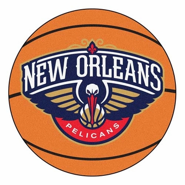 New Orleans Pelicans 27 Inch Basketball Shaped Rug
