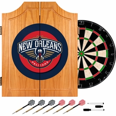 New Orleans Pellicans Complete Dart Cabinet