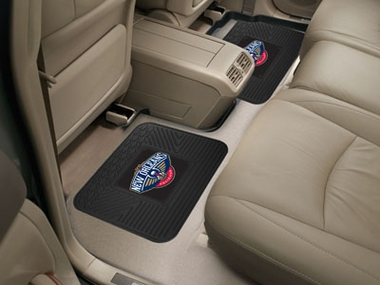 New Orleans Pelicans SET OF 2 Heavy Duty Vinyl Rear Car Mats