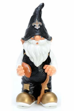 "New Orleans Saints Garden Gnome - 11"" Male"