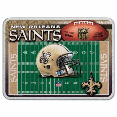 New Orleans Saints 11 x 15 Glass Cutting Board