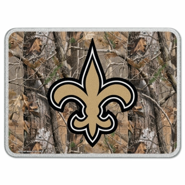 New Orleans Saints 11 x 15 Glass Cutting Board (Realtree)