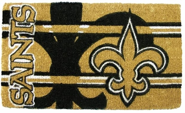 New Orleans Saints 18x30 Bleached Welcome Mat
