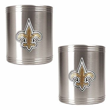 New Orleans Saints 2 Can Holder Set