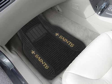 New Orleans Saints 2 Piece Heavy Duty DELUXE Vinyl Car Mats