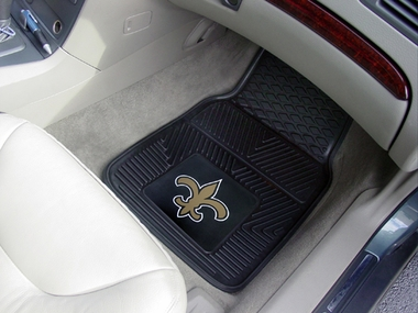 New Orleans Saints 2 Piece Heavy Duty Vinyl Car Mats
