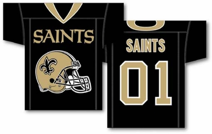 New Orleans Saints 2 Sided Jersey Banner Flag (F)