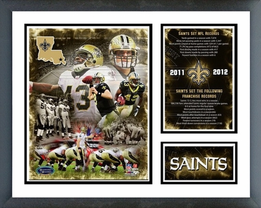 New Orleans Saints 2011 Record Setting Framed Milestones & Memories