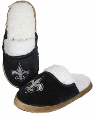 New Orleans Saints 2012 Womens Team Color Sherpa Glitter Slippers
