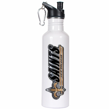 New Orleans Saints 26oz Stainless Steel Water Bottle (White)
