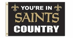 New Orleans Saints 3' x 5' Flag (Country) (F)