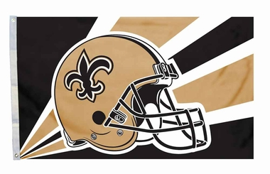 New Orleans Saints 3'x5' Helmet Design Flag