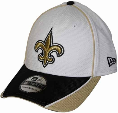 New Orleans Saints 39THIRTY Abrasion Plus Fitted Hat - White
