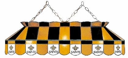 New Orleans Saints 40 Inch Rectangular Stained Glass Billiard Light