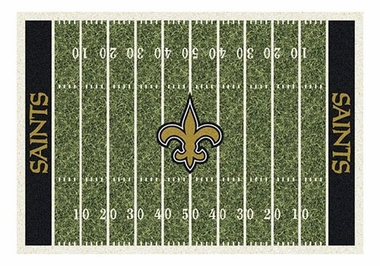 "New Orleans Saints 5'4"" x 7'8"" Premium Field Rug"