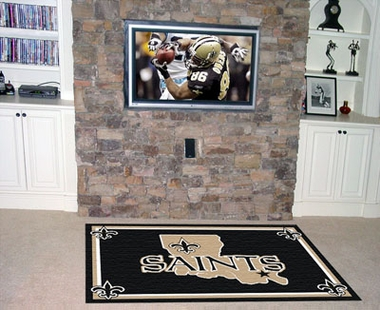 New Orleans Saints 5 Foot x 8 Foot Rug