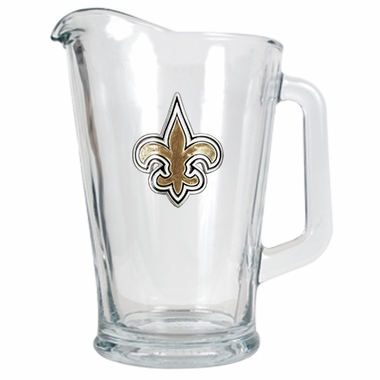 New Orleans Saints 60 oz Glass Pitcher