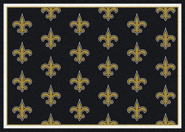 "New Orleans Saints 7'8 x 10'9"" Premium Pattern Rug"