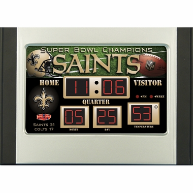 New Orleans Saints Alarm Clock Desk Scoreboard