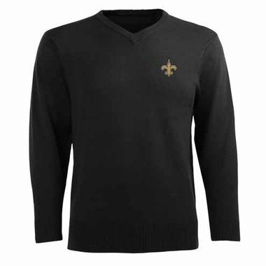 New Orleans Saints Mens Ambassador Sweater (Team Color: Black)