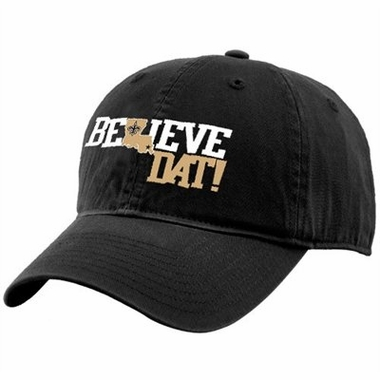 New Orleans Saints Believe Dat Adjustable Slouch Hat
