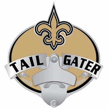 New Orleans Saints Bottle Opener Hitch Cover