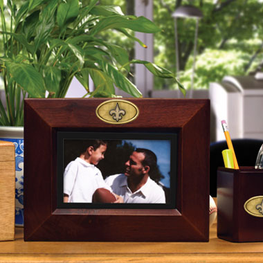 New Orleans Saints BROWN Landscape Picture Frame