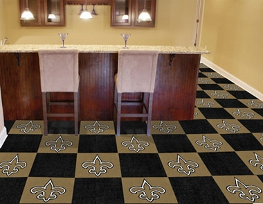 New Orleans Saints Carpet Tiles