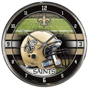 New Orleans Saints Chrome Clock