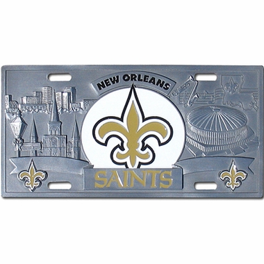 New Orleans Saints Deluxe Collector's License Plate