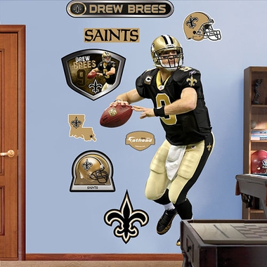 New Orleans Saints Drew Brees Fathead Wall Graphic