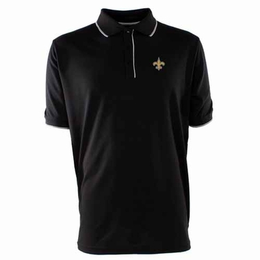 New Orleans Saints Mens Elite Polo Shirt (Team Color: Black)
