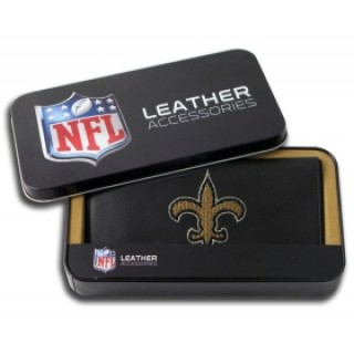 New Orleans Saints Embroidered Leather Checkbook Cover